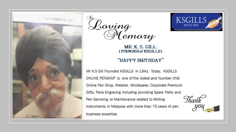Founder of KSGILLS ~ Mr. K.S.Gill