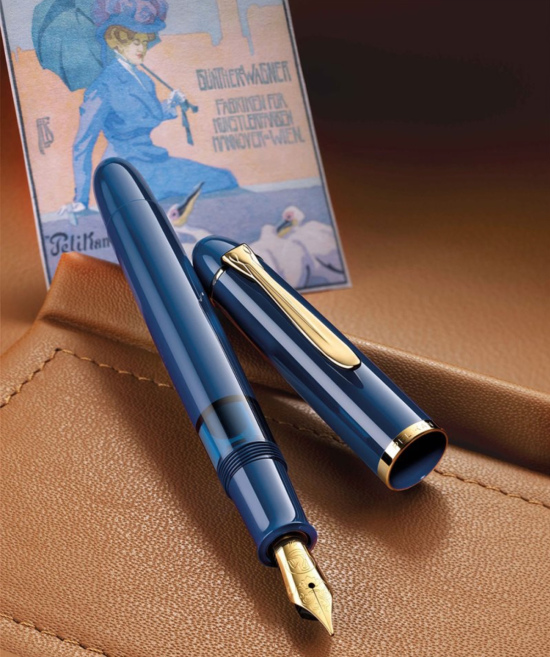 Pelikan SE Classic M120 Iconic Blue Gold Trim Fountain Pen
